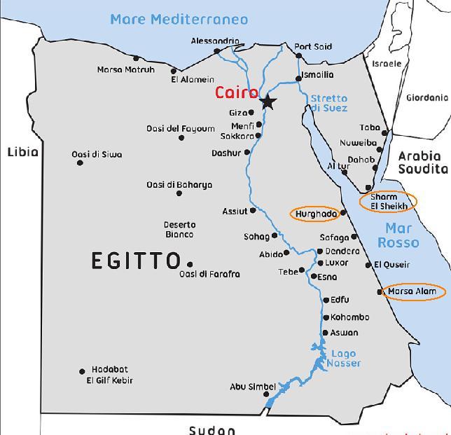 Cartina Del Egitto.Ma Dov E Sharm Egittiamo Blog Sull Egitto E Localita Del